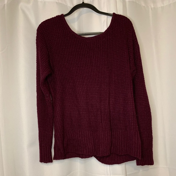 Maroon Sweater with Lace Back